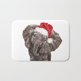 Christmas Baby Elephant Bath Mat