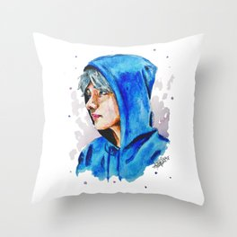 Taehyung watercolor BTS Throw Pillow