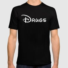 Drugs Disney Mens Fitted Tee X-LARGE Black