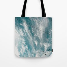 Doves and Wire#2 Tote Bag