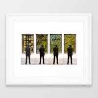 frames Framed Art Prints featuring Frames by Monster Rally / Ted Feighan