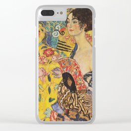 Gustav Klimt - Lady With Fan Clear iPhone Case