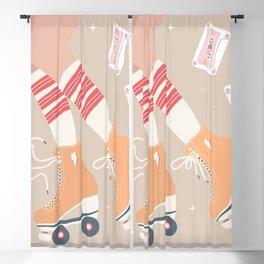 Roller skate girl 004 Blackout Curtain