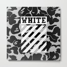 off white Metal Print
