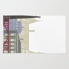 Luxembourg skyline poster Rug