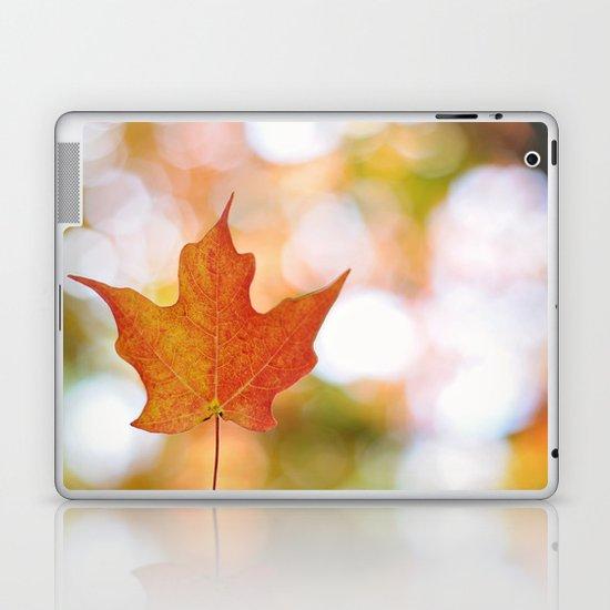 Maple leaf bokeh Laptop & iPad Skin