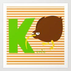 k for kiwi Art Print