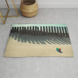 Rubik shading in the beach Rug