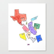 My State Can Eat Your State Canvas Print