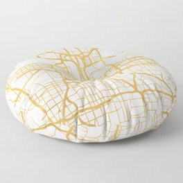 KANSAS CITY MISSOURI CITY STREET MAP ART Floor Pillow