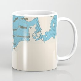 meteorological Shipping forecast. Coffee Mug