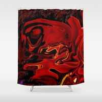 cherry Shower Curtains featuring Cherry  by LBH Dezines