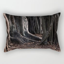 Spooky Winter Trees Rectangular Pillow