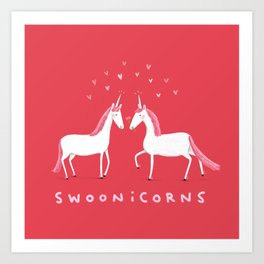 Swoonicorns Art Print