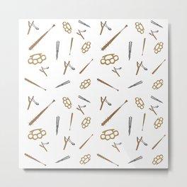 Weapons Pattern Metal Print