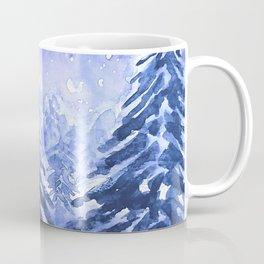 pine forest under galaxy Coffee Mug