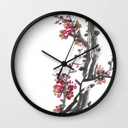Plum Blossom Two Wall Clock