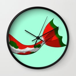 Christmas Koi Mermaid Tail V2 #Holiday #Xmas Wall Clock