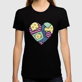 Patchwork heart T-shirt