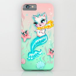 Tropical Merkitten with Lei and Starfish iPhone Case