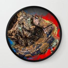 Boa Constrictor Digital Art Wall Clock