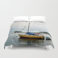 sailboat Duvet Covers featuring Sailboat Rainbow by kelly*n photography