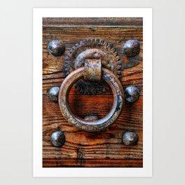Door knocker Art Print