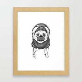 DJ Pug Framed Art Print