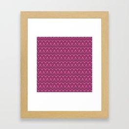 Chevron-Dark Pinkies Framed Art Print
