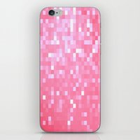 bubblegum iPhone & iPod Skins featuring Bubblegum Pink Pixels by 2sweet4words Designs
