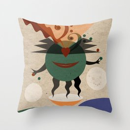 The happy juggler Throw Pillow