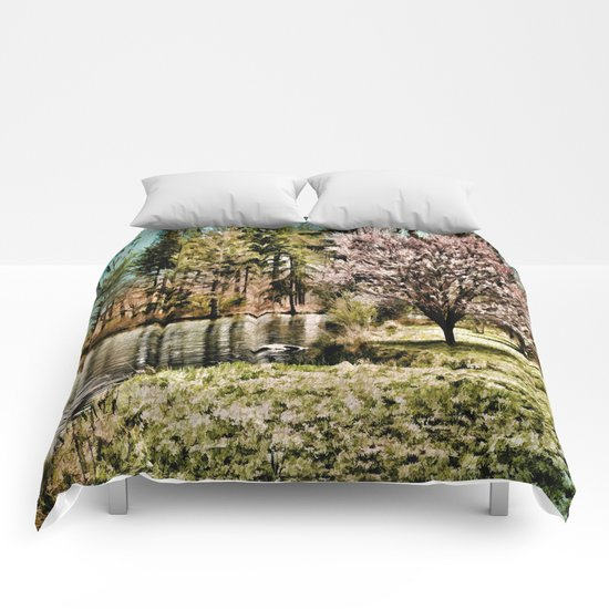 Spring Time In New England Comforters