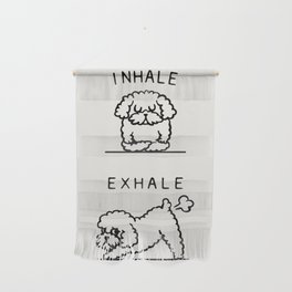 Inhale Exhale Toy Poodle Wall Hanging