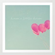Balloons in the sky...  Art Print
