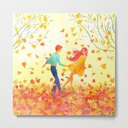 Autumn dancers Metal Print