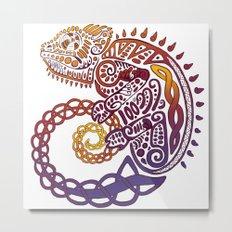 Celtic Chameleon Metal Print
