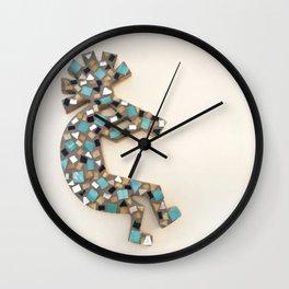 Mosaic Kokopelli Wall Clock
