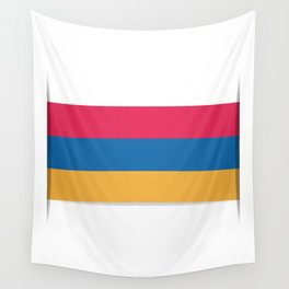 Flag of Armenia. The slit in the paper with shadows.  Wall Tapestry