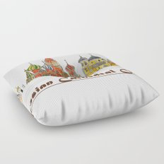Colorful Cathedral Churches Floor Pillow
