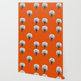 Little Trees (burnt orange) Wallpaper