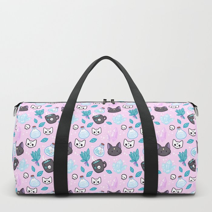 Herb Witch // Pink Duffle Bag
