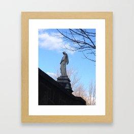 Angelic sky Framed Art Print