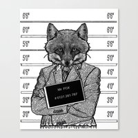 mr fox Canvas Prints featuring Mr fox.. by ZefxisJR281