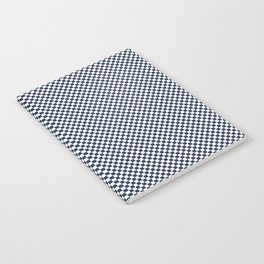 Dark Sargasso Blue and White Mini Check 2018 Color Trends Notebook