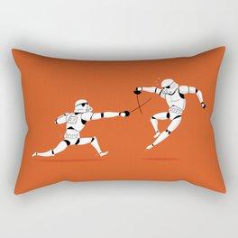 Stormtroopers Swordfencing Rectangular Pillow