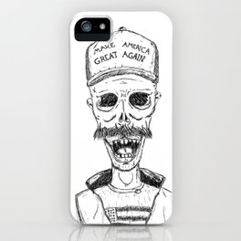 Make America Great Again, with zombies iPhone Case