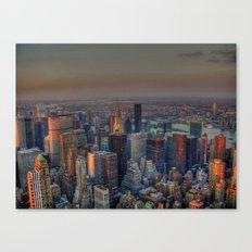 NEW YORK SUNSET Canvas Print