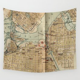 Vintage Map of Ottawa Canada (1894) Wall Tapestry