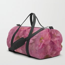 Pink flower painting - by Brian Vegas Duffle Bag