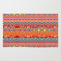 india Area & Throw Rugs featuring India Style Pattern (Multicolor) by Diego Tirigall